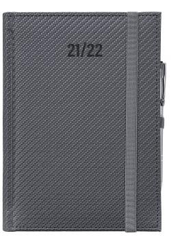 Kalendarz nauczyciela 2021/2022 A5D Carbon z gumką szary