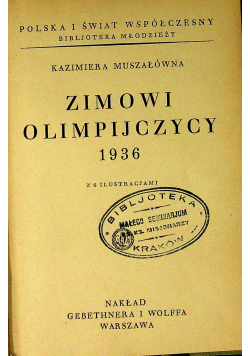 Zimowi olimpijczycy 1936 r