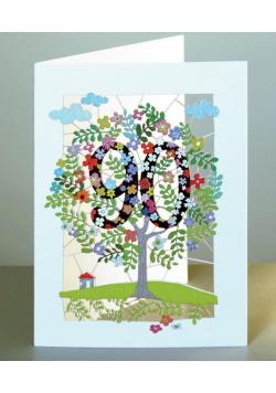Karnet PM190 wycinany + koperta Urodziny 90