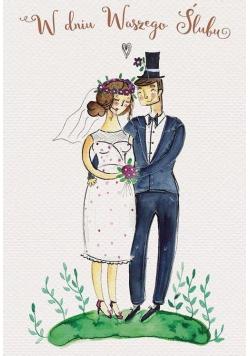 Karnet 118x163 Ślub - Para Młoda