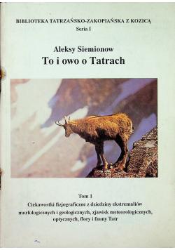 To i owo o Tatrach Tom I