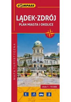 Plan miasta - Lądek-Zdrój i okolice 1:15 000
