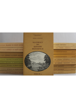 Materiały do dziejów rezydencji 18 tomów