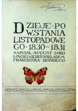 Dzieje powstania listopadowego 1830 - 1831 1913 r.