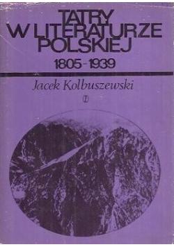 Tatry w literaturze Polskiej 1805 - 1939