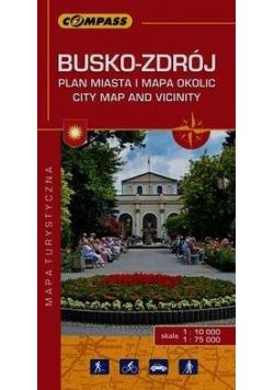 Plan miasta - Busko-Zdrój i okolice