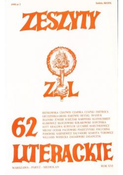 Zeszyty literackie 62 2/1998