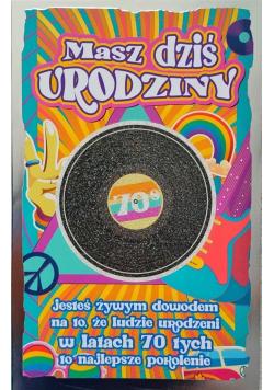 Karnet Urodziny lata 70. 2K - 042