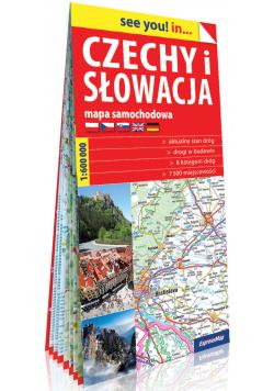 Czechy i Słowacja papierowa mapa samochodowa 1:600 000