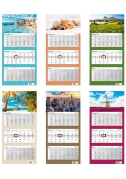 Kalendarz 2021 trójdzielny mix HELMA