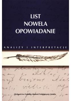 List nowela opowiadanie
