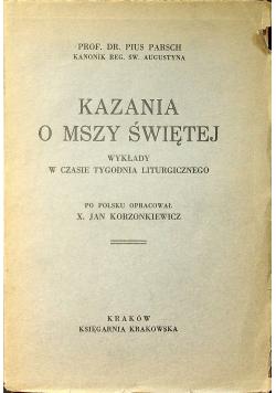 Kazania o Mszy Świętej 1931 r