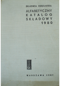 Alfabetyczny katalog składowy 1980