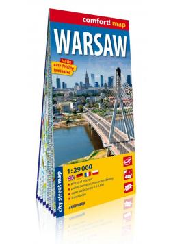 Warsaw laminowany plan miasta 1:29 000