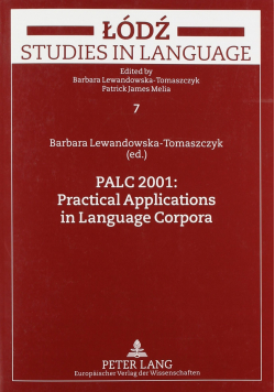 Łódź Studies in Language 7 Palc 2001 Practical Applications in Language Corpora