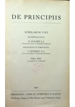 De Principiis 1936r/De Sexto 1937r/De Censuris  1938r