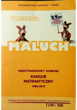 Międzynarodowy Konkurs Kangur Matematyczny 1992 - 2015 Kategoria maluch