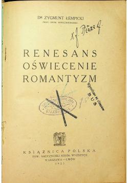 Renesans oświecenie romantyzm 1923r