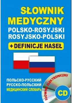 Słownik medyczny polsko rosyjski rosyjsko polski plus CD