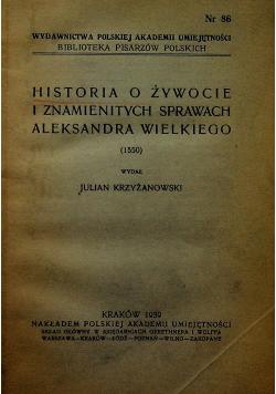Historia o żywocie i znamienitych sprawach Aleksandra Wielkiego  1939 r.