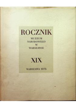 Rocznik muzeum narodowego w Warszawie XIX