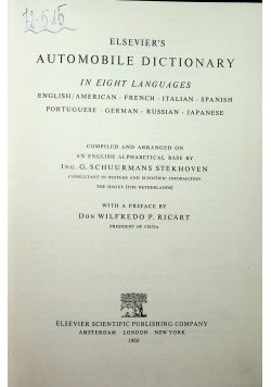 Elsevier s Automobile dictionary