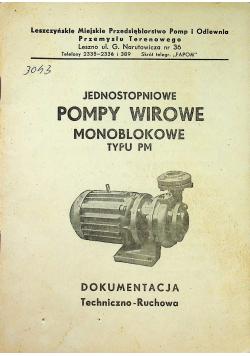 Jednostopniowe pompy wirowe monoblokowe typu pm