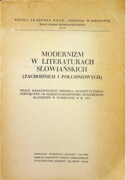 Modernizm w literaturach słowiańskich