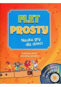 Flet prosty. Nauka gry dla dzieci z płytą CD