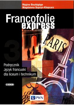 Francofolie express 3 Podręcznik Język francuski
