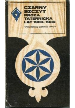 Czarny szczyt Proza taternicka lat 1904 1939