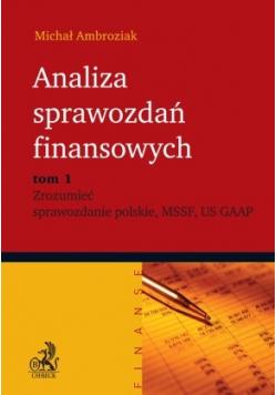 Analiza sprawozdań finansowych tom 1