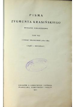 Pisma Zygmunta Krasińskiego Tom VIII 1912r