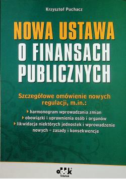 Nowa ustawa o finansach publicznych