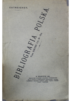 Bibliografia polska 1930 r