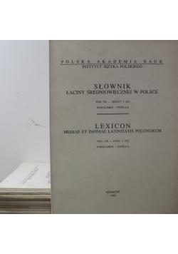 Słownik łaciny średniowiecznej w Polsce Lexicon  Tom VII   11  zeszytów
