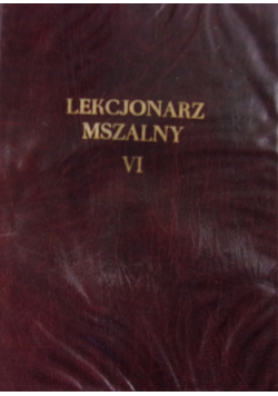 Lekcjonarz mszalny VI