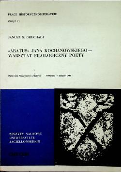 Aratus Jana Kochanowskiego Warsztat filologiczny poety