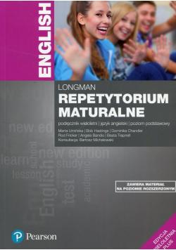 Longman Repetytorium maturalne Podręcznik wieloletni Poziom podstawowy + Testy maturalne NOWE