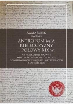 Antroponimia Kielecczyzny I połowy XIX w.
