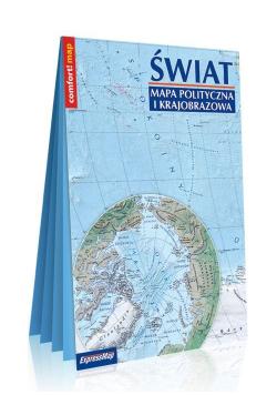 Świat Mapa polityczna i krajobrazowa format XXL 1:31 000 000