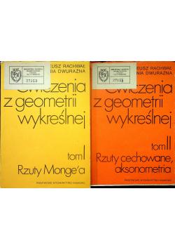 Ćwiczenia z geometrii wykreślnej Tom I i II