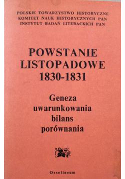 Powstanie listopadowe 1830 - 1831