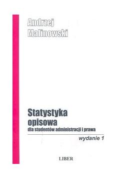 Statystyka opisowa dla studentów administracji i prawa