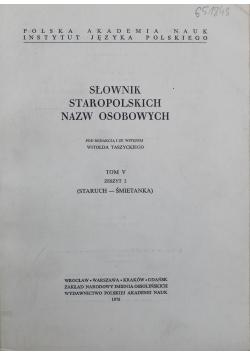 Słownik staropolskich nazw osobowych tom 5 zeszyt 2