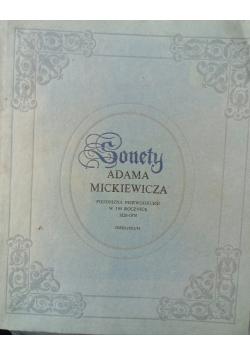 Sonety Adama Mickiewicza reprint z 1826 r