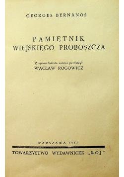 Pamiętnik wiejskięgo proboszcza 1937 r.