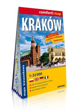 Comfort!map Kraków 1:22 000 mapa kieszonkowa