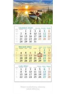 Kalendarz 2021 Trójdzielny Łódka KT3