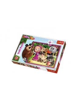 Puzzle 24 maxi Masza i Niedźwiedź TREFL